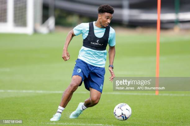 Junior Stanislas of Bournemouth during a pre-season training session at Vitality stadium on August 03, 2021 in Bournemouth, England.