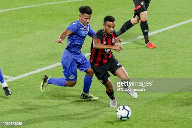 Junior Stanislas of Bournemouth during the Hampshire Senior Cup match between AFC Bournemouth U21 and Eastleigh FC at Vitality Stadium on September...
