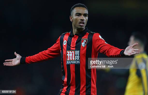 Junior Stanislas of Bournemouth during the Premier League match between AFC Bournemouth and Arsenal at Vitality Stadium on January 3 2017 in...