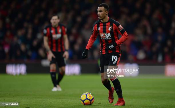 Junior Stanislas of Bournemouth during the Premier League match between AFC Bournemouth and Stoke City at the Vitality Stadium on February 3 2018 in...