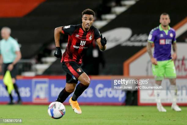 Junior Stanislas of Bournemouth during the Sky Bet Championship match between AFC Bournemouth and Bristol City at Vitality Stadium on October 28 2020...