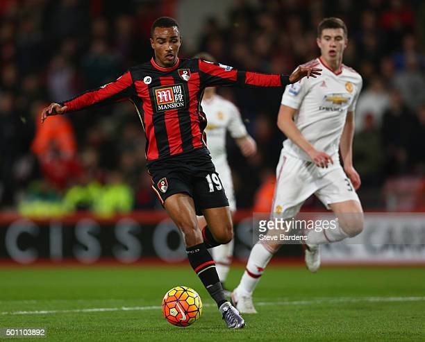 Junior Stanislas of Bournemouth in action during the Barclays Premier League match between AFC Bournemouth and Manchester United at Vitality Stadium...