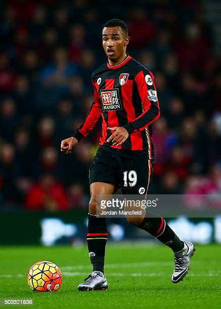 Junior Stanislas of Bournemouth in action during the Barclays Premier League match between AFC Bournemouth and Crystal Palace at the Vitality Stadium...