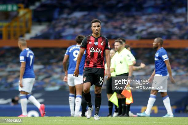 Junior Stanislas of Bournemouth leaves the pitch after his side are relegated after the Premier League match between Everton FC and AFC Bournemouth...