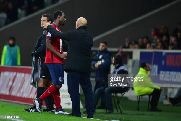 Junior TALLO / Frederic ANTONETTI Lille / Saint Etienne 16eme journee de Ligue 1 Photo Dave Winter / Icon Sport