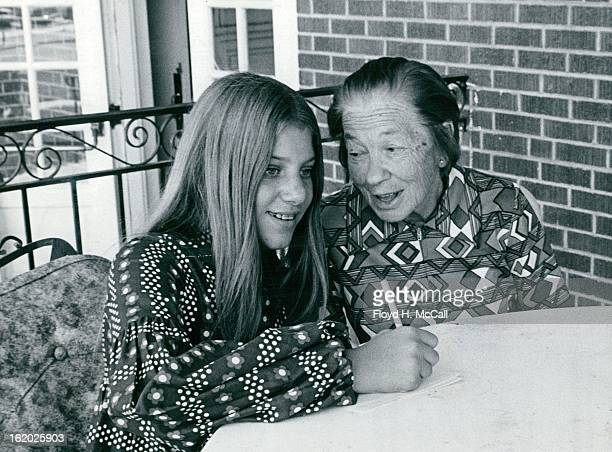 AUG 25 1971 AUG 31 1971 SEP 5 1971 Junior volunteers assist residents of the Home for the Aged in many ways Miss Judy Hertz left listens to Mrs Bella...