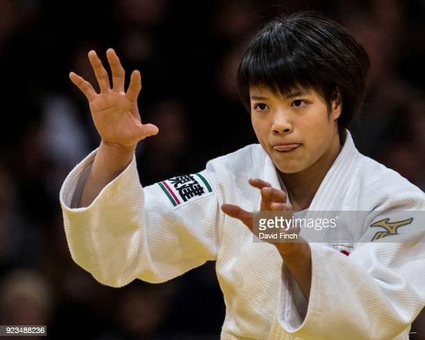 Junior World champion Uta Abe of Japan won all of her contests by ippon to secure the u52kg gold medal during the 2018 Paris Grand Slam at the...