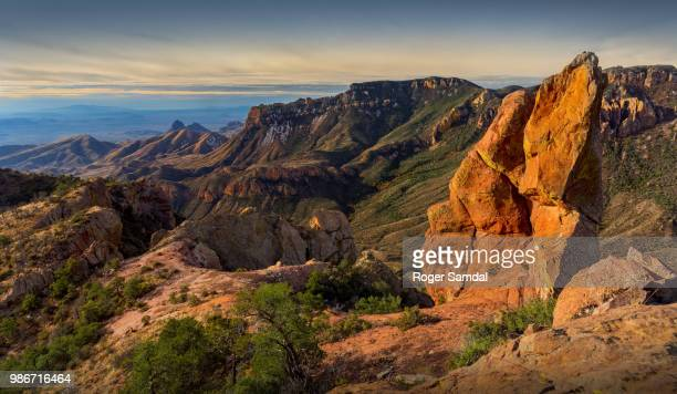 juniper canyon sunrise - chisos mountains stock pictures, royalty-free photos & images