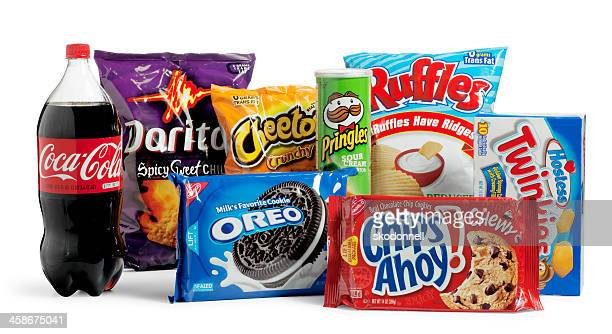 junk food - chips ahoy stock photos and pictures