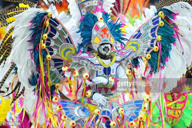 Junkanoo performer participates in the opening ceremponies for the IAAF/BTC World Relays Bahamas 2017 at Thomas Robinson Stadium on April 22 2017 in...