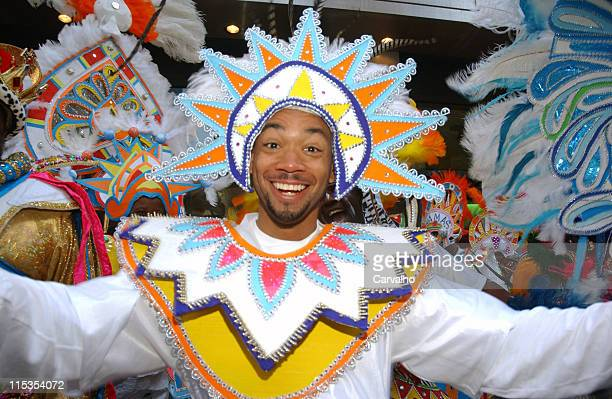 Junkanoo Troupe during New Line Cinema And Planet Hollywood In Times Square Present The Junkanoo Troupe at Planet Hollywood in New York City New York...