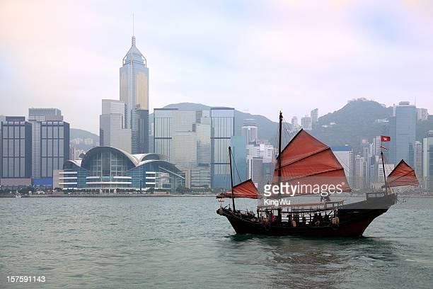 Junkboat in Hong Kong Harbour