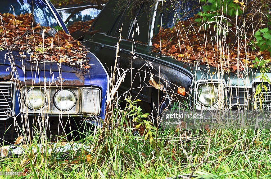 Junked Cars Stock Photo | Getty Images
