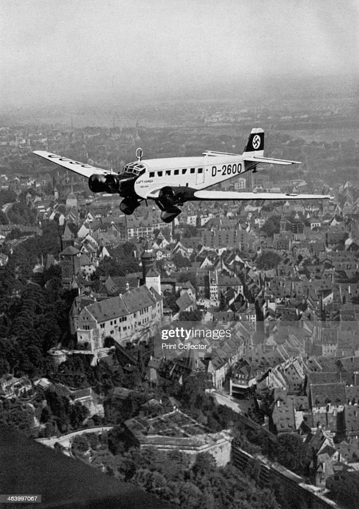 Junkers Ju 52 Aircraft D-2600 Over Nuremberg, Germany