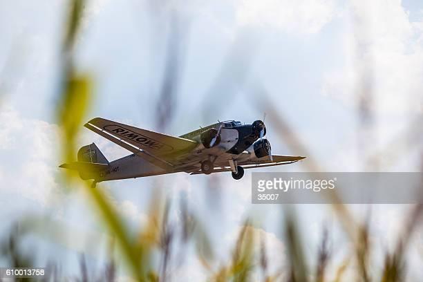 junkers ju52 at oldtimer airplane airshow