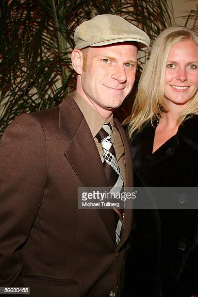 Junkie XL and Caroline Pfaff arrive for the world premiere of the new music documentary Coachella at the Orpheum Theater on January 19 2006 in Los...