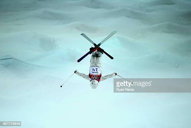 Junko Hoshino of Japan competes during Ladies' Moguls Qualification at Rosa Khutor Extreme Park on February 6 2014 in Sochi Russia