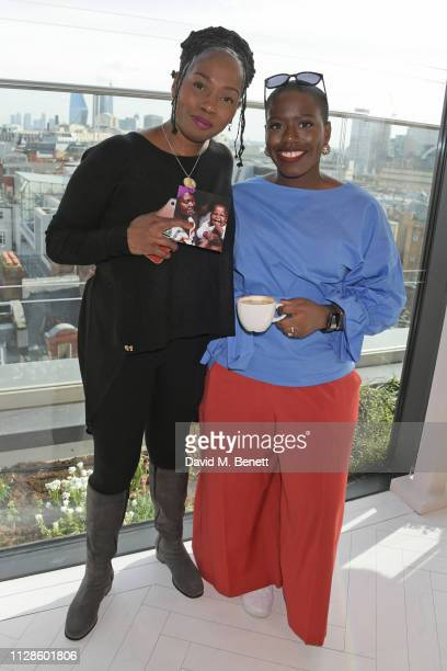 Junnie Grant and Candice Brathwaite attend the mothers2mothers Wonder Women Tea at Bourne Hollingsworth's Garden Room on March 4 2019 in London...