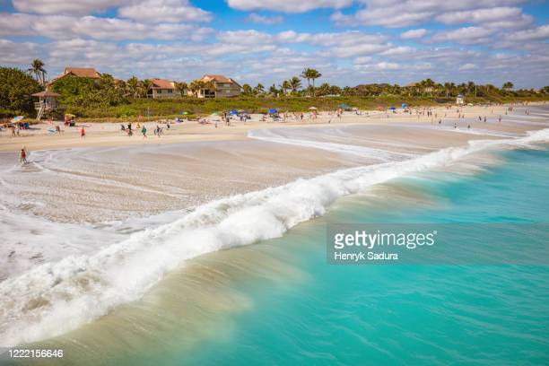juno beach pier - juno beach florida stock pictures, royalty-free photos & images