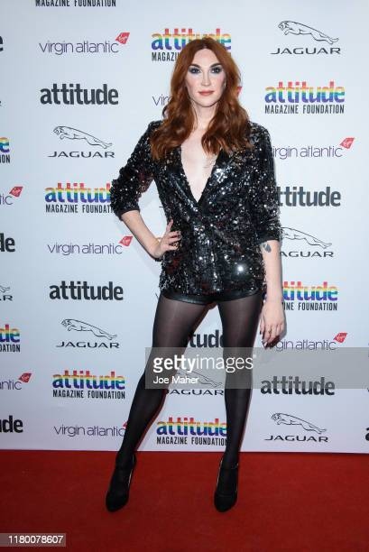 Juno Dawson attends the 2019 Attitude Awards at The Roundhouse on October 09 2019 in London England