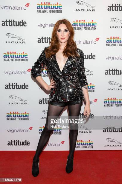 Juno Dawson attends the Attitude Awards 2019 at The Roundhouse on October 09 2019 in London England