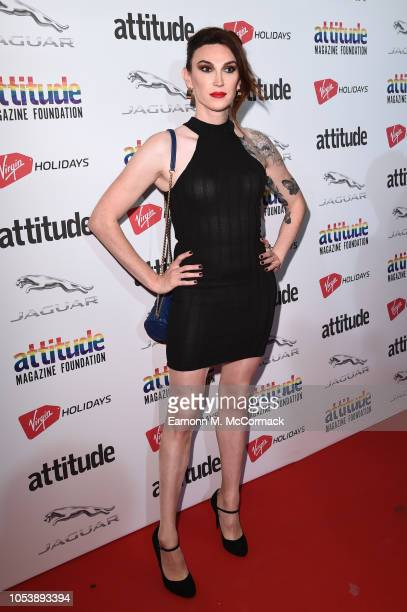 Juno Dawson attends The Virgin Holidays Attitude Awards at The Roundhouse on October 11 2018 in London England