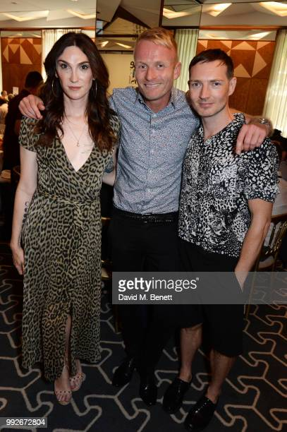Juno Dawson Matt Cain and Dan Gillespie Sells attend the Attitude Pride Awards 2018 at The Berkeley Hotel on July 6 2018 in London England