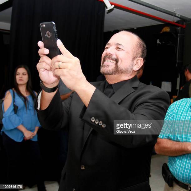 Juno Faria husband of Iris Chacon is seen backstage of the play 'Enchismas' at Centro de Bellas Artes de Caguas on September 8 2018 in Caguas Puerto...