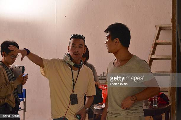 Juno Mak and Chin Siuho on the Hong Kong film set of Rigor Mortis a horror film about vampires The film is Mak's directorial debut and is released in...
