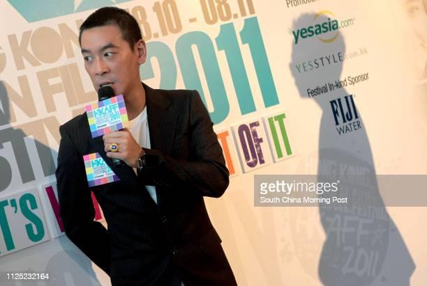 Juno Mak Chunlun ambassador of the Hong Kong Asian Film Festival 2011 attends a press conference to announce the event at the Miyabi Tsim Sha...