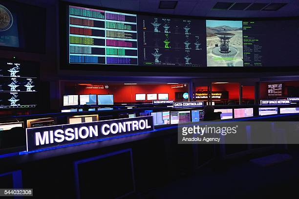 Juno mission control room is seen in Pasadena California June 30 2016 to announce 'Destination Juno' a collaboration between NASA and Apple to bring...