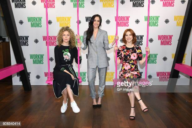 """Juno Rinaldi, Catherine Reitman and Dani Kind attend CBC Presents: A Night Out With """"Workin Moms"""" at TIFF Bell Lightbox on March 6, 2018 in Toronto,..."""
