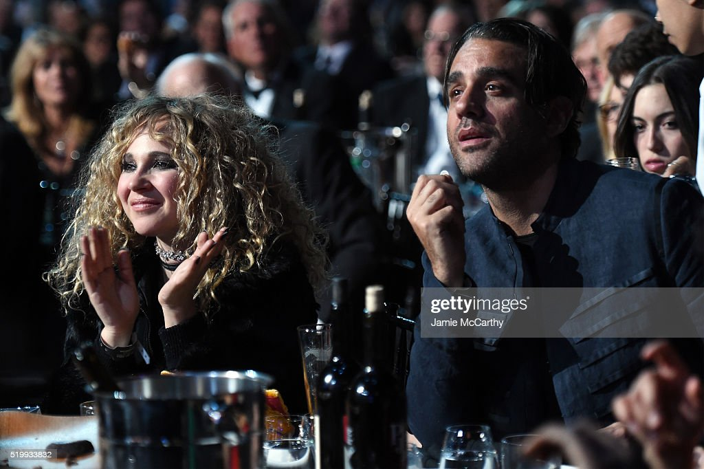 Juno Temple and Bobby Cannavale attend the 31st Annual Rock And Roll Hall Of Fame Induction Ceremony at Barclays Center of Brooklyn on April 8, 2016 in New York City.