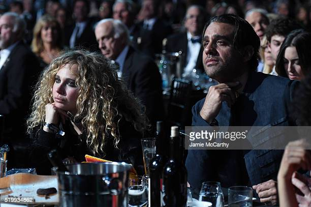 Juno Temple and Bobby Cannavale attend the 31st Annual Rock And Roll Hall Of Fame Induction Ceremony at Barclays Center of Brooklyn on April 8 2016...