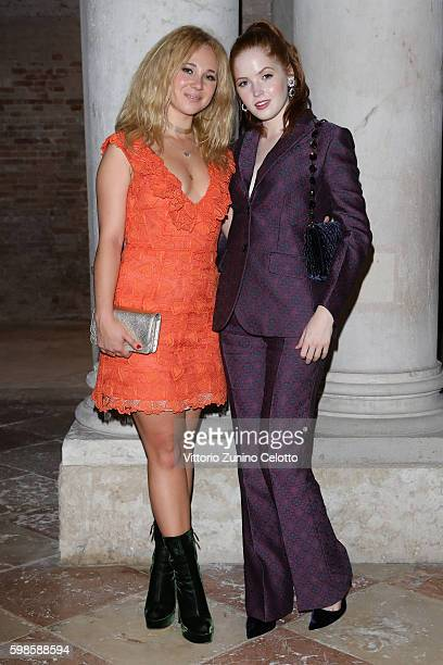 Juno Temple and Ellie Bamber attend Miu Miu Women's Tales Dinner during the 73rd Venice Film Festival at Ca' Corner della Regina on September 1 2016...