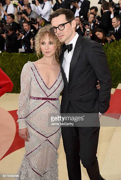 Juno Temple and Erdem Moralioglu attend the 'Manus x Machina Fashion In An Age Of Technology' Costume Institute Gala at Metropolitan Museum of Art on...