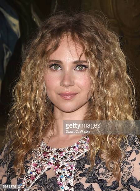 Juno Temple arrives for the Christian Dior showcase of its spring summer 2017 Cruise collection at Blenheim Palace on May 31 2016 in Woodstock England