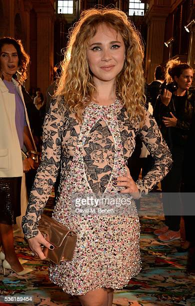 Juno Temple attends as Christian Dior showcases its spring summer 2017 cruise collection at Blenheim Palace on May 31 2016 in Woodstock England