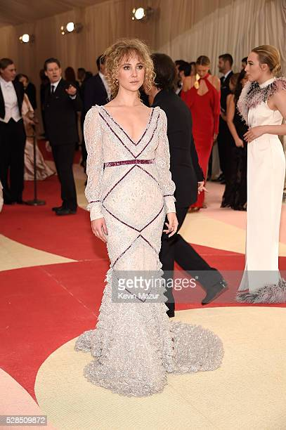 Juno Temple attends 'Manus x Machina Fashion In An Age Of Technology' Costume Institute Gala at Metropolitan Museum of Art on May 2 2016 in New York...