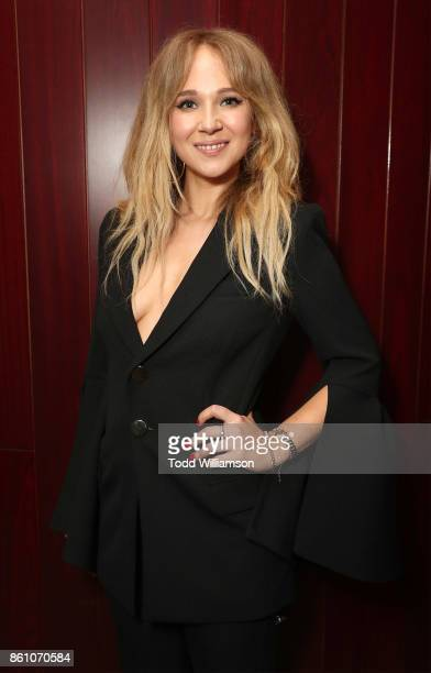 Juno Temple attends NYFF's 'A Conversation With Kate Winslet' at Francesca Beale Theater on October 13 2017 in New York City
