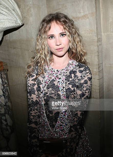 Juno Temple attends the Dior Cruise Collection show 2017 at Blenheim Palace on May 31 2016 in Woodstock England
