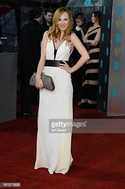 Juno Temple attends the EE British Academy Film Awards at The Royal Opera House on February 10 2013 in London England