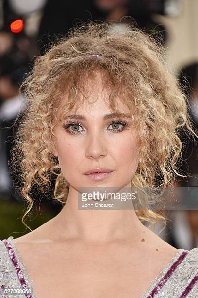 Juno Temple attends the 'Manus x Machina Fashion In An Age Of Technology' Costume Institute Gala at Metropolitan Museum of Art on May 2 2016 in New...