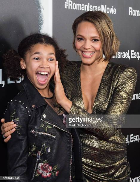 Juno Wright and Carmen Ejogo attend the Roman J Israel Esquire New York Premiere at Henry R Luce Auditorium at Brookfield Place on November 20 2017...