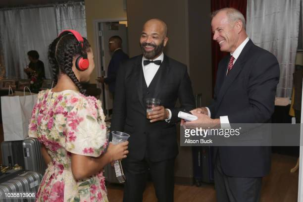 Juno Wright and Jeffrey Wright attend Backstage Creations Giving Suite At The 70th Emmy Awards at Microsoft Theater on September 17 2018 in Los...
