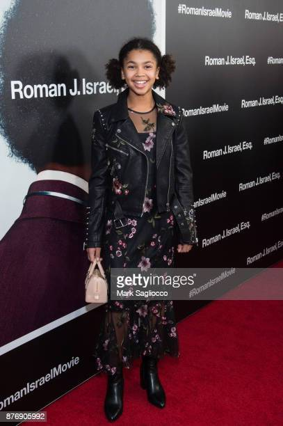 Juno Wright attends the Roman J Israel Esquire New York Premiere at Henry R Luce Auditorium at Brookfield Place on November 20 2017 in New York City
