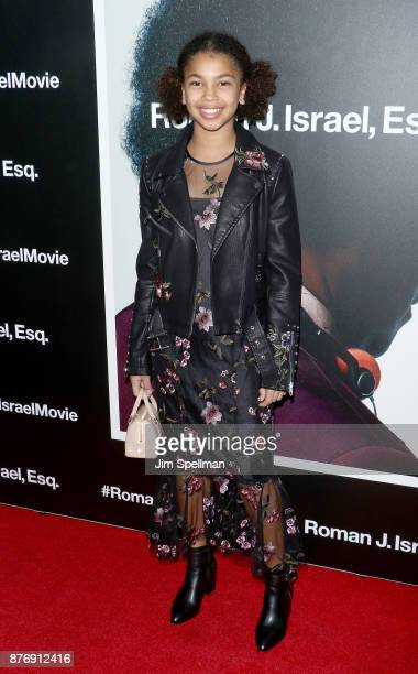 Juno Wright attends theRoman J Israel Esquire New York premiere at Henry R Luce Auditorium at Brookfield Place on November 20 2017 in New York City