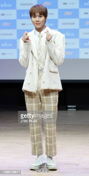 Junseo of BAE173 during a BAE173's new album 'INTERSECTION : SPARK' debut showcase at Ilchi Art Hall on November 19, 2020 in Seoul, South Korea.