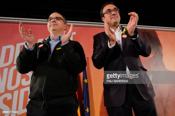 'Junts per Catalonia' grouping candidates for the upcoming Catalan regional election deposed Catalan regional government spokesperson Jordi Turull...