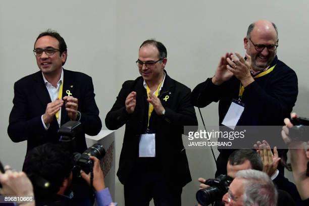 'Junts per Catalonia' JUNTSXCAT grouping candidates Jordi Turull Eduard Pujol and deposed Catalan regional government Territory and Sustainability...